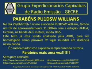 PU1DSW Willians Junho 2016